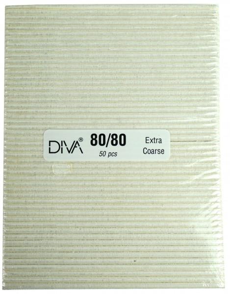 Feile, extra breit weiß, 80/80-er Körnung 50 Stck.