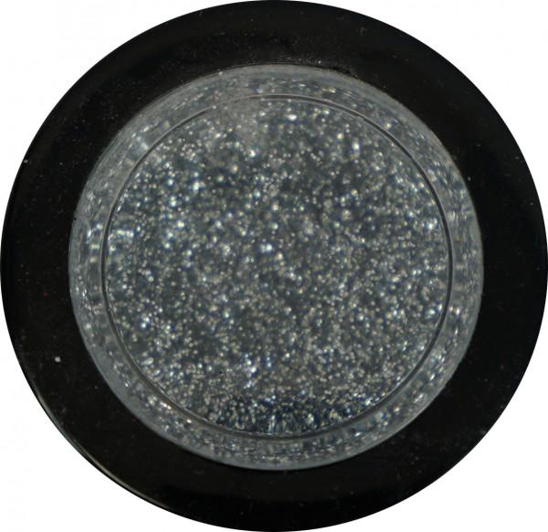 Glitter - medium silber