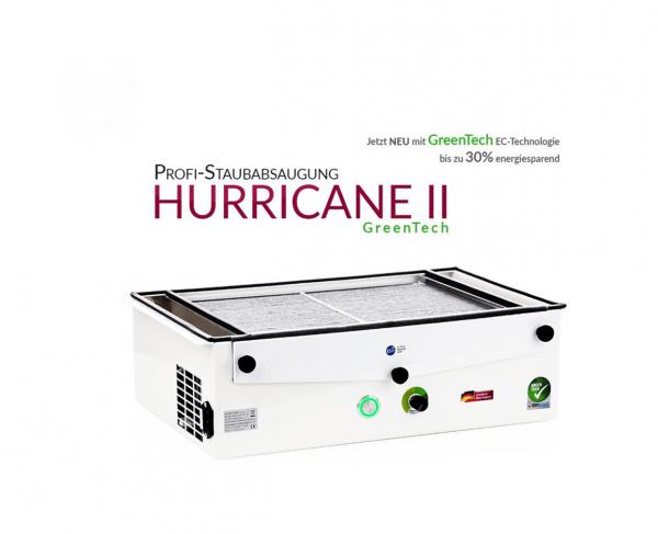 Profi-Staubabsaugung HURRICANE II GreenTech