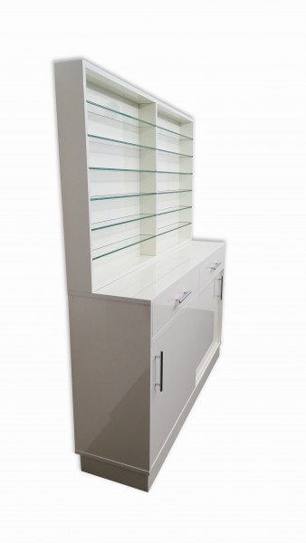 Sideboard mit Glasregal - Klassik