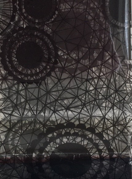 Transferfolie- Kreise schwarz transparent