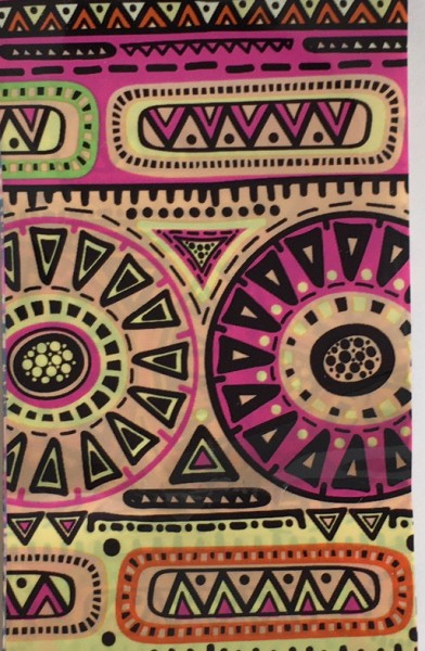Transferfolie- Inka Gelb Pink